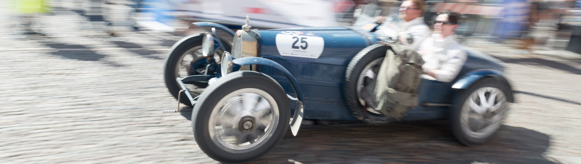 Bugatti at speed during a recent 1000 Mille