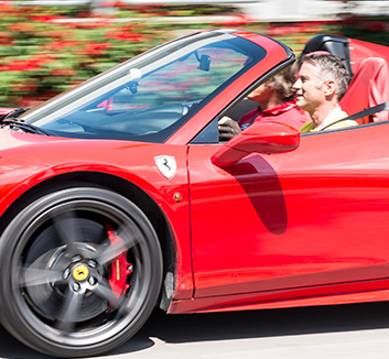 Experience a Ferrari test drive around the streets of Maranello