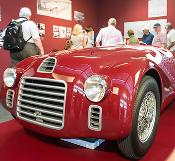 Our 1000 Miglia tour event includes a visit to the Ferrari Museum at Maranello.