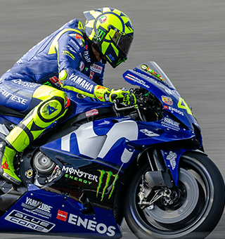 VR46 - Valentino Rossi at speed (c)Simon PR Benson